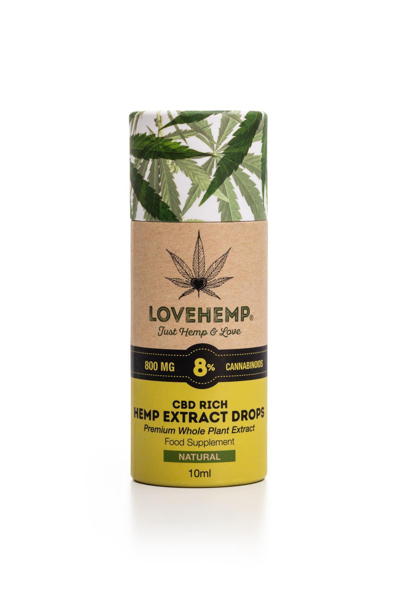 CBD oil Lovehemp 8% - KANNAPLUS