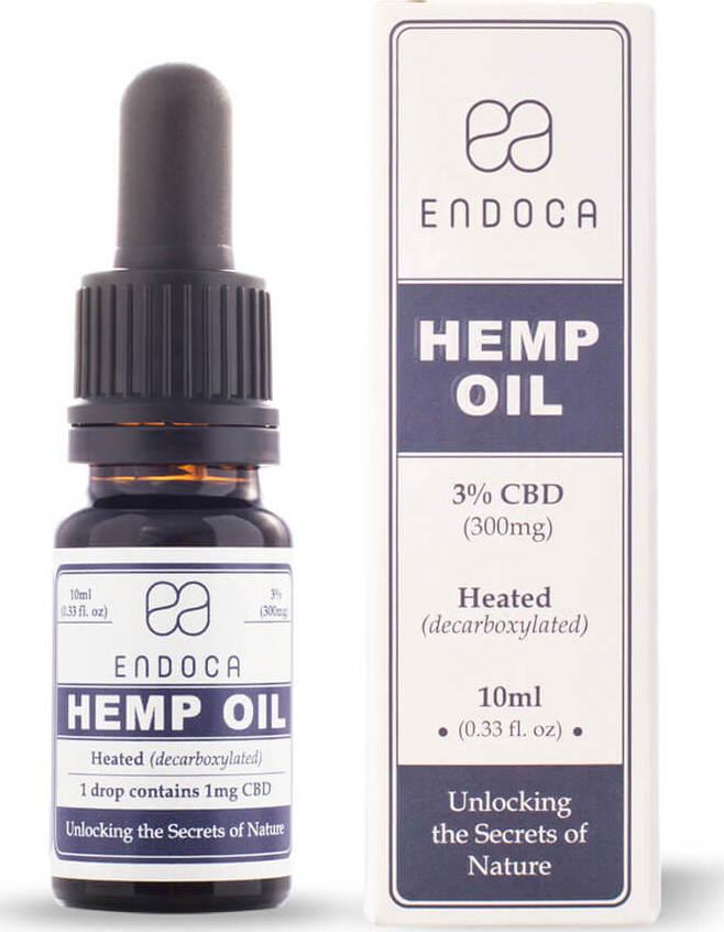 Endoca CBD έλαιο κάνναβης 3% | KANNA+