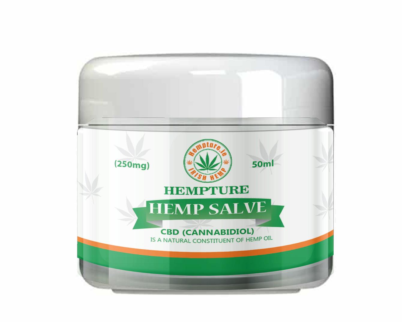 hempture cbd balm hemp salve-250mg pure cannabidiol 50ml