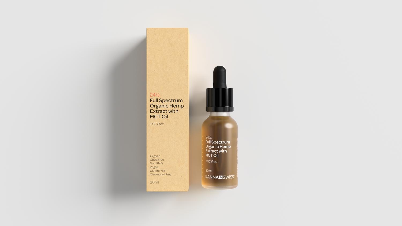 KannaSwiss- Full-Spectrum Organic Hemp Extract (24% CBD) + MCT Oil