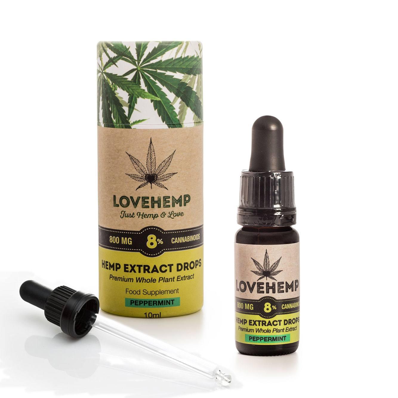 lovehemp 8% έλαιο CBD - Δυόσμος