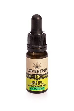 λαδι κανναβιδιόλης 10% - Lovehemp - Γεύση μέντα- MCT oil